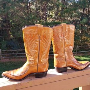 Dan Post Made in Spain Coganc Leather Cowboy Boots
